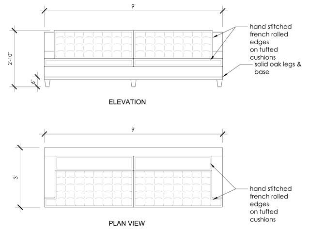Sofa Drawing Plan Catosfera Net