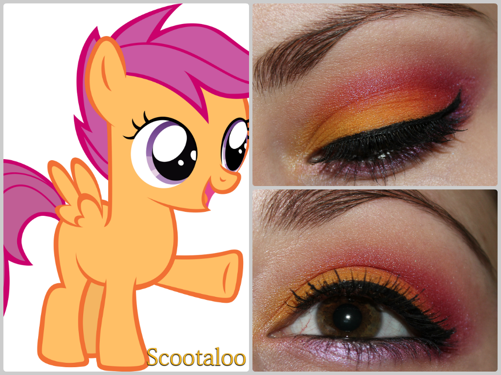 Luhivy S Favorite Things My Little Pony Series Scootaloo Inspired Makeup Cutie Mark Crusader Edition While the mane 6 and the rest of the cmc were worried, the kidnapper after a long day of flight practice with scootaloo, rainbow dash teaches the filly a little about preening. luhivy s favorite things blogger