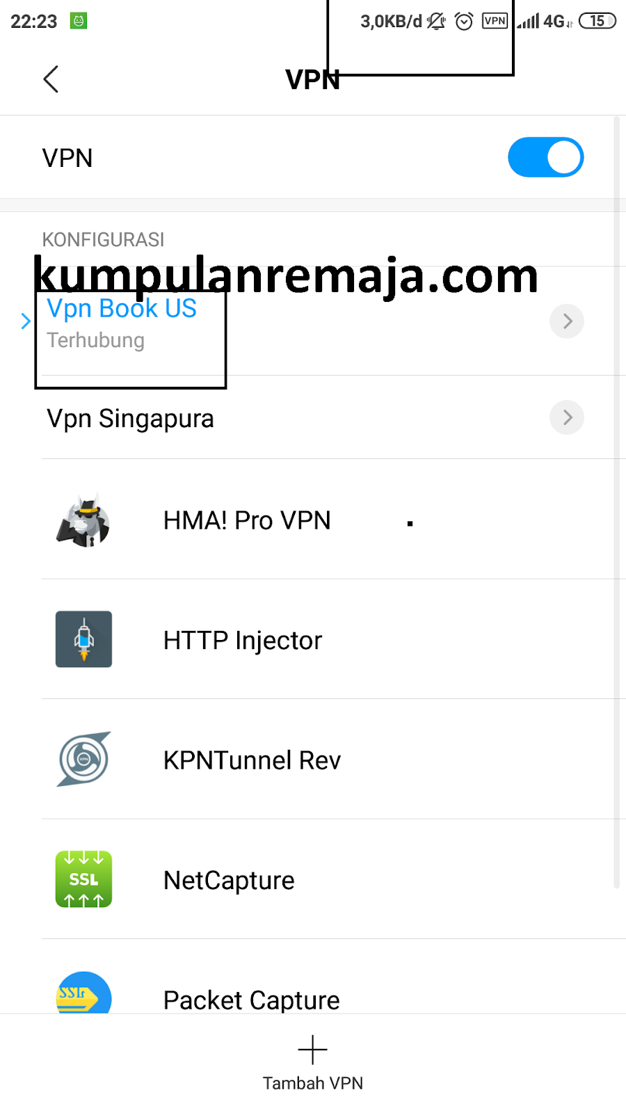 Cara Menggunakan VPN Bawaan HP Android - Kumpulan Remaja