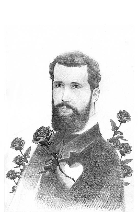 Retrato de José Asunción Silva por Marco Pinto