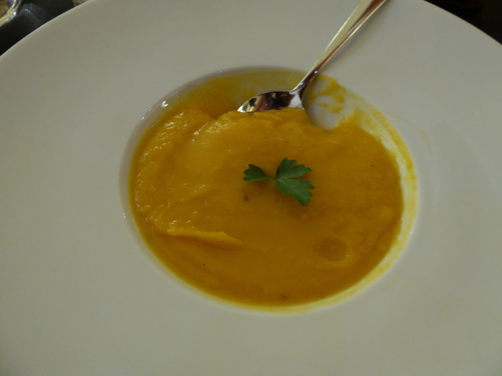 Soupe De Courge Discover Paris The En Risotto Dish Was Superb It Consisted Of Four Slices Smoked T That Rested Upon A Generous Bed