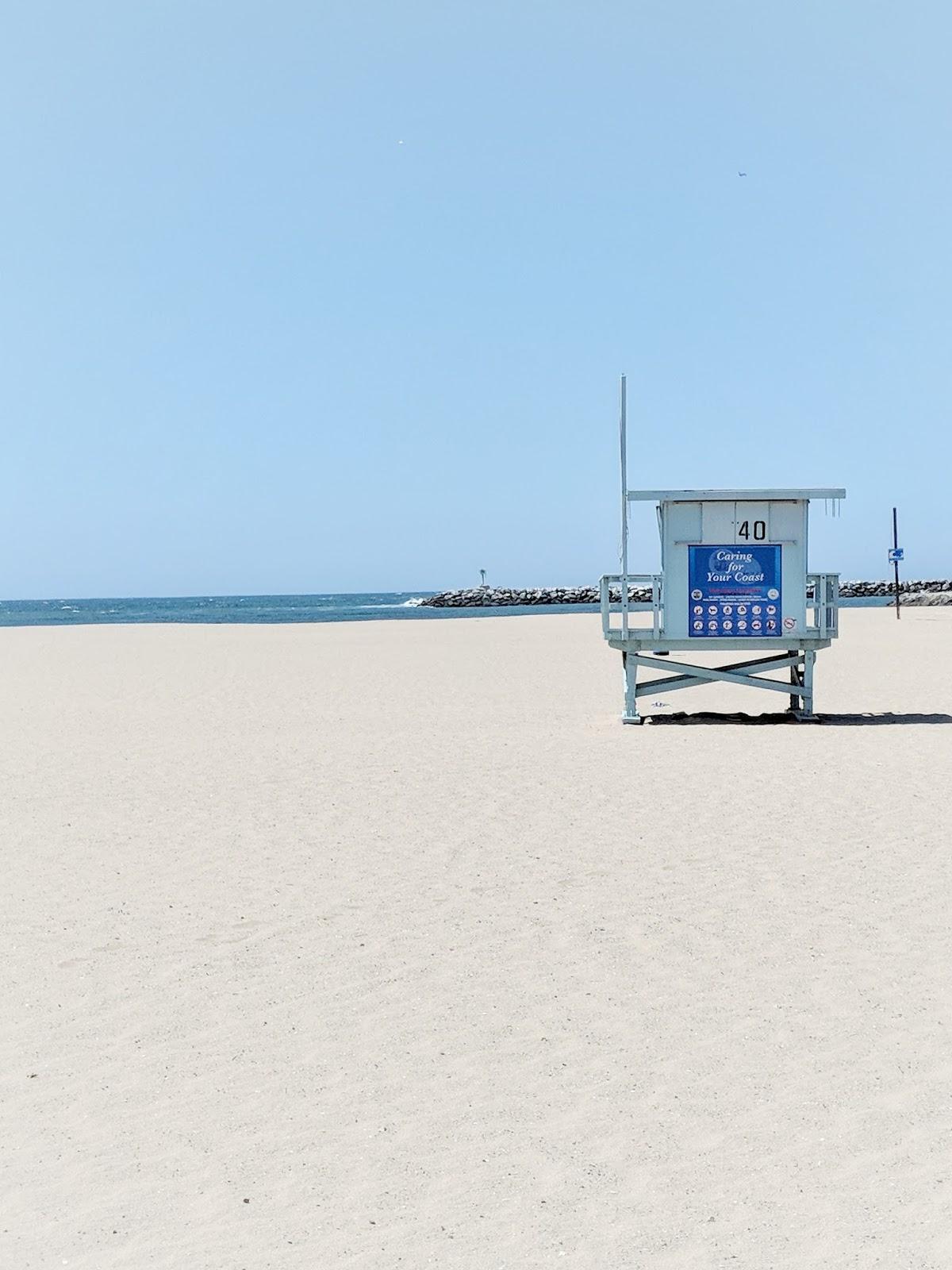 Marina Del Rey Los Angeles California beach house lifeguard house sand blue sky la ca horizon beachlife saltlife salt hair don't care serenity beach scene beach please