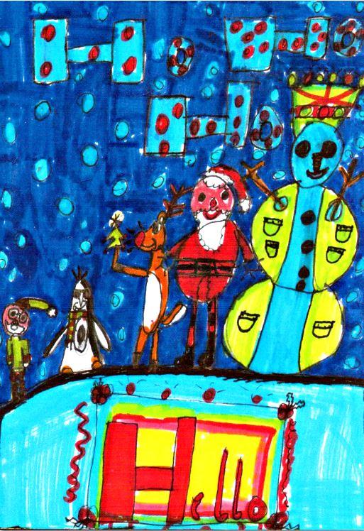 Katies Christmas card design
