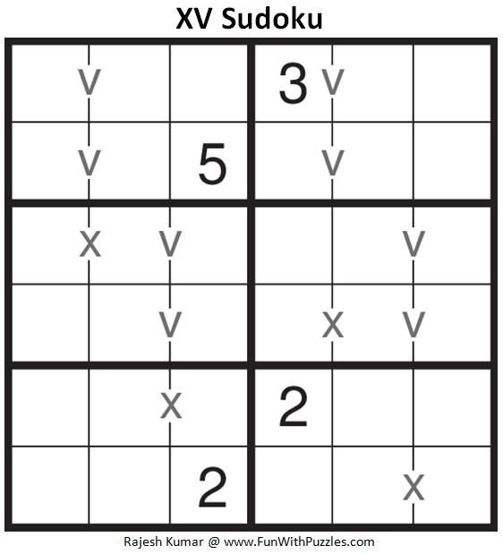 XV Sudoku (Mini Sudoku Series #82)