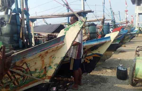 angin kencang nelayan indramayu tak bisa melaut