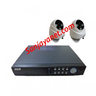 Paket CCTV 2 Kamera HD 1.3Mp Lengkap Murah