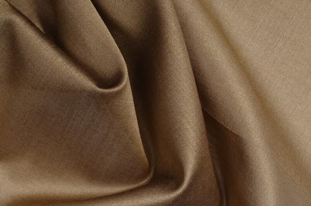 Dark Beige Cotton Silk Fabric