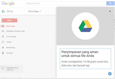 Dashboard Google Drive