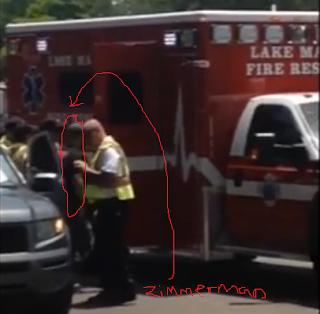 George Zimmerman shot victim fire truck ambulance