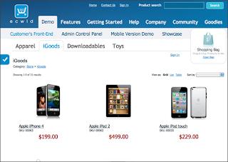 تطبيق ecwid shop
