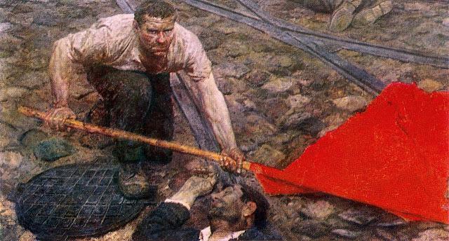 Гелий Михайлович Коржев-Чувелев. Поднимающий знамя