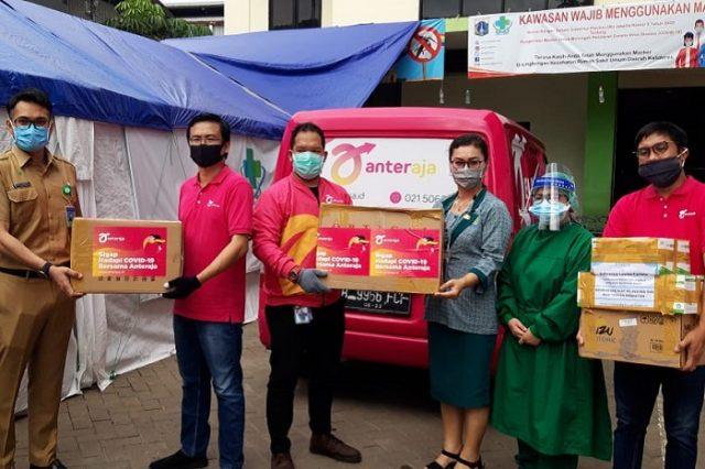 Anteraja Peduli Penanggulangan Penyebaran Wabah Virus Corona di Jakarta Utara