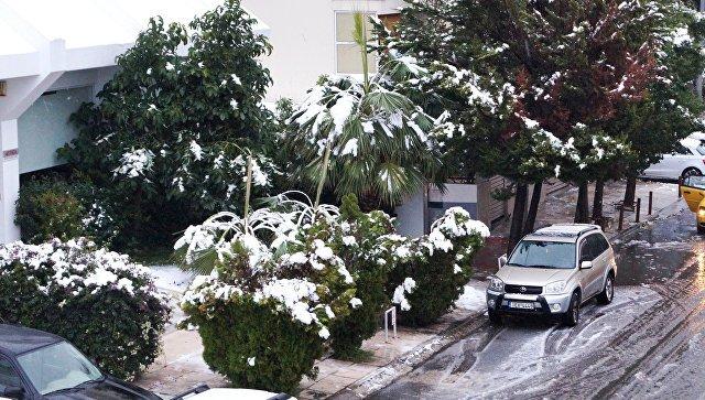 На території емірату Рас-ель-Хайма випав сніг