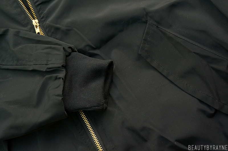 Romwe Stand Collar With Pockets Black Jacket Review