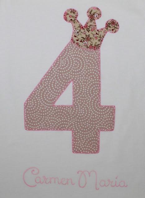 camiseta de cumpleaños 4 años