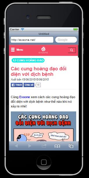 Dự án thiết kế Website cho báo phụ nữ Evaone.net