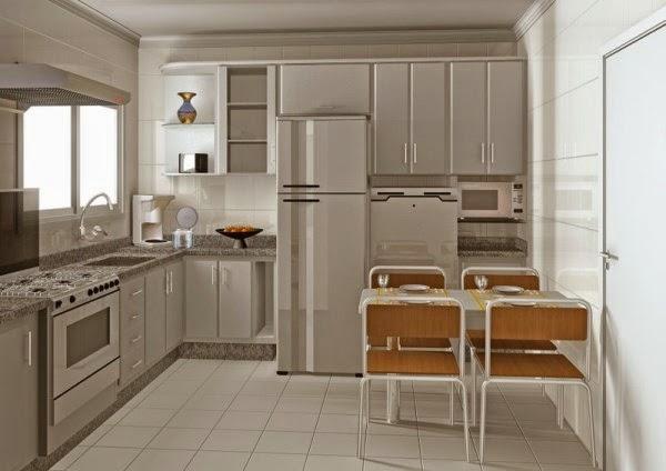 Dapur minimalis sederehana dan ruang makan