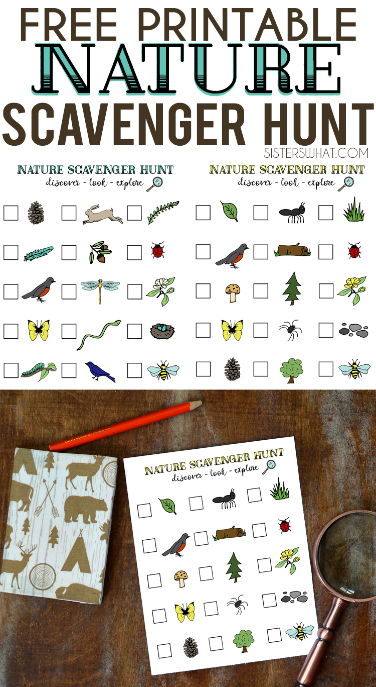 free printable nature scavenger hunt for summer adventures