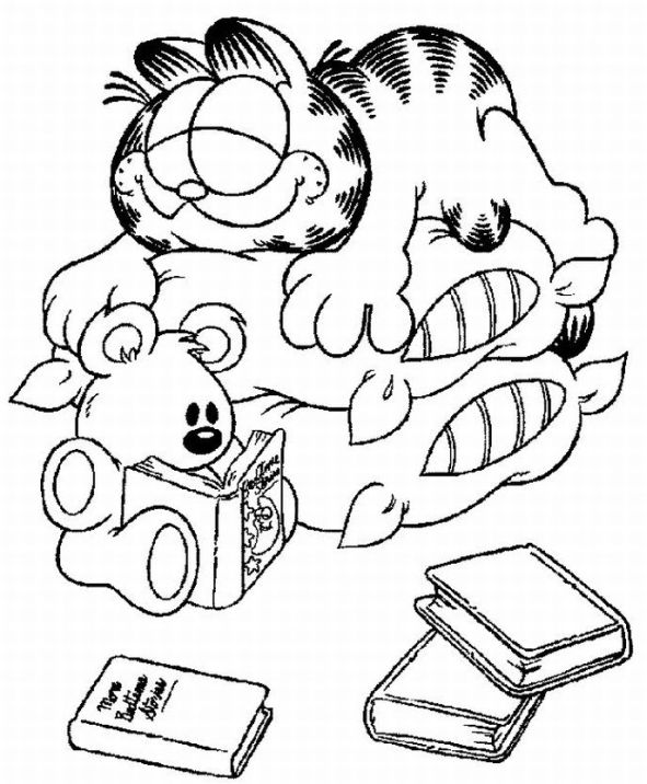 coloring pages of a | Garfield Coloring Pages | Learn To Coloring