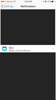 Screen Capture of Notifications page