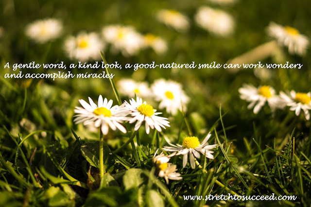 A gentle word, a kind look, a good-natured smile can work wonders and accomplish miracles