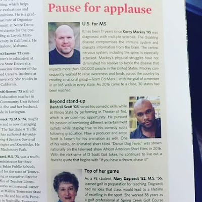 MEDIA PRESS: Dandrell Scott in the ISU Alumni Magazine