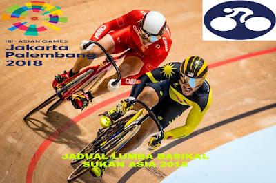 Jadual Lumba Basikal Sukan Asia 2018
