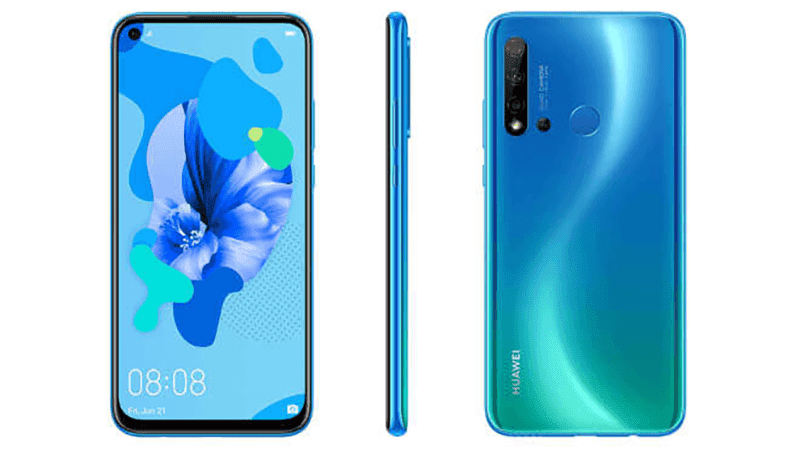 Alleged Huawei P20 lite 2019 with punch hole display and rear quad cameras renders leaks