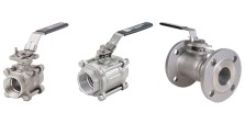 Socketed and flanged ball valves for industrial process control