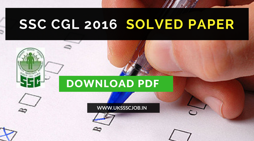 Previous ssc cgl pdf 2016 papers