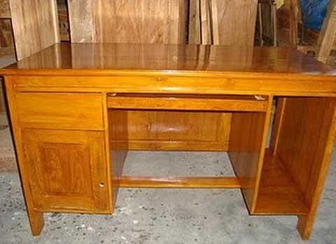 meja kerja kayu jati