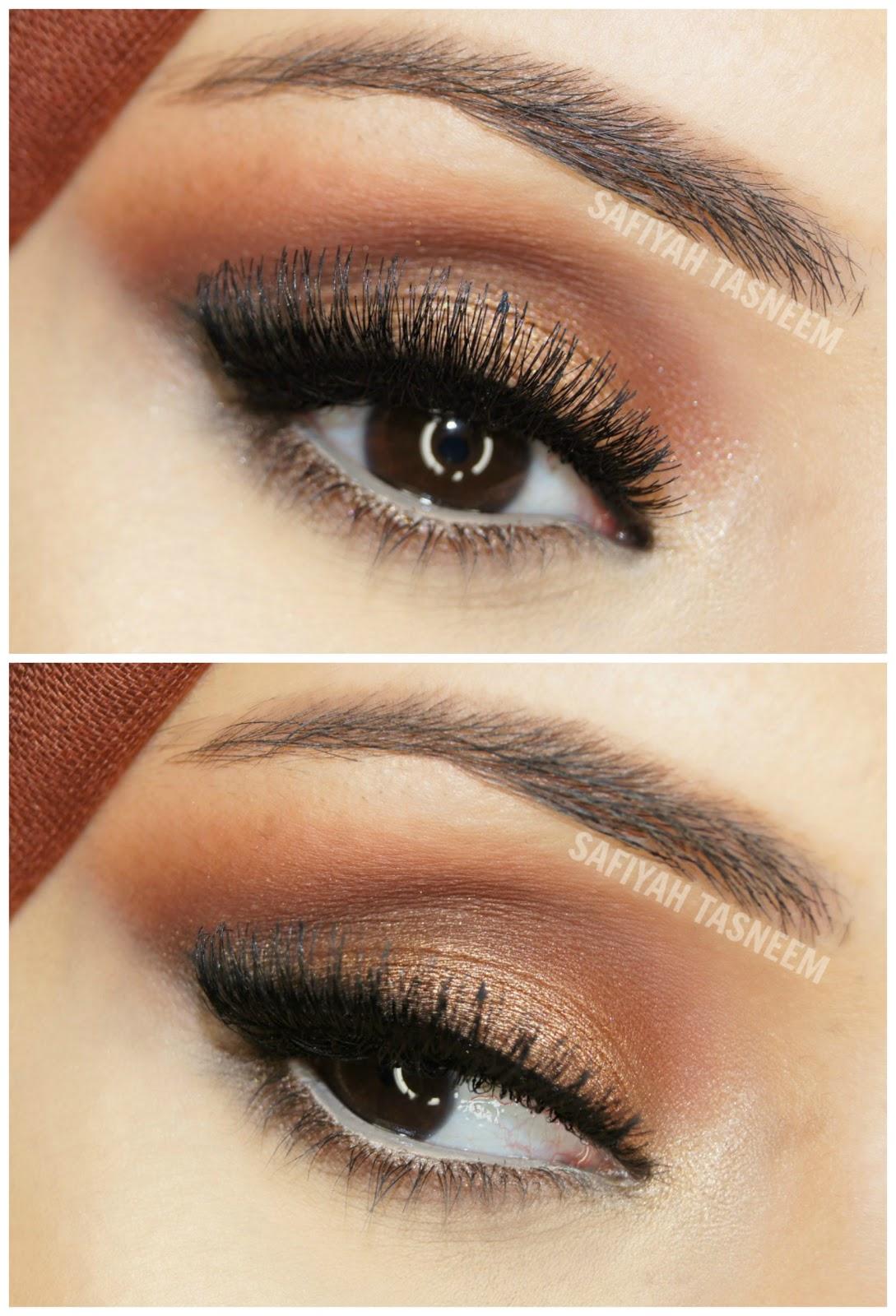 Safiyah Tasneem  Ff Naked Palette Brown-Gold Make Up Look-3398