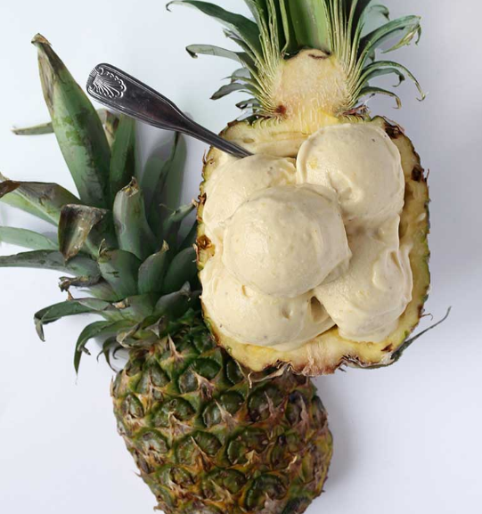 Healthy Pineapple Banana Icecream #dessert #healthy