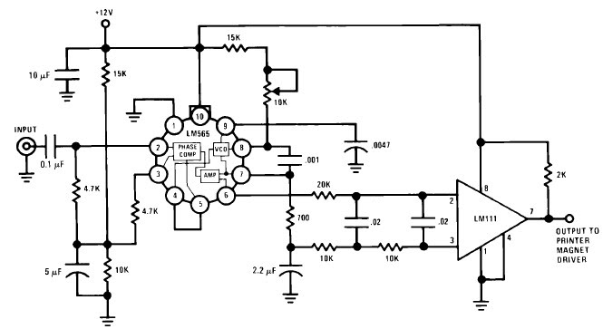 LM565 bassed FSK Demodulator circuit with explanation