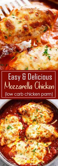 Delicious Mozzarela Chicken Recipe (Low Carb Chicken Parm)