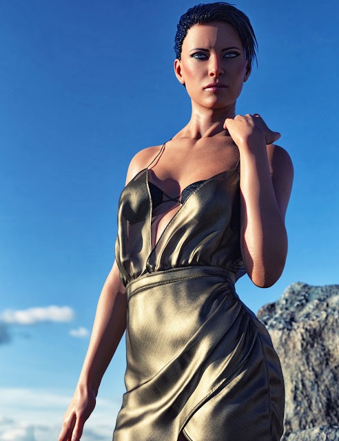 dForce HD Wet and Dry Classic Dress for Genesis 8 Female