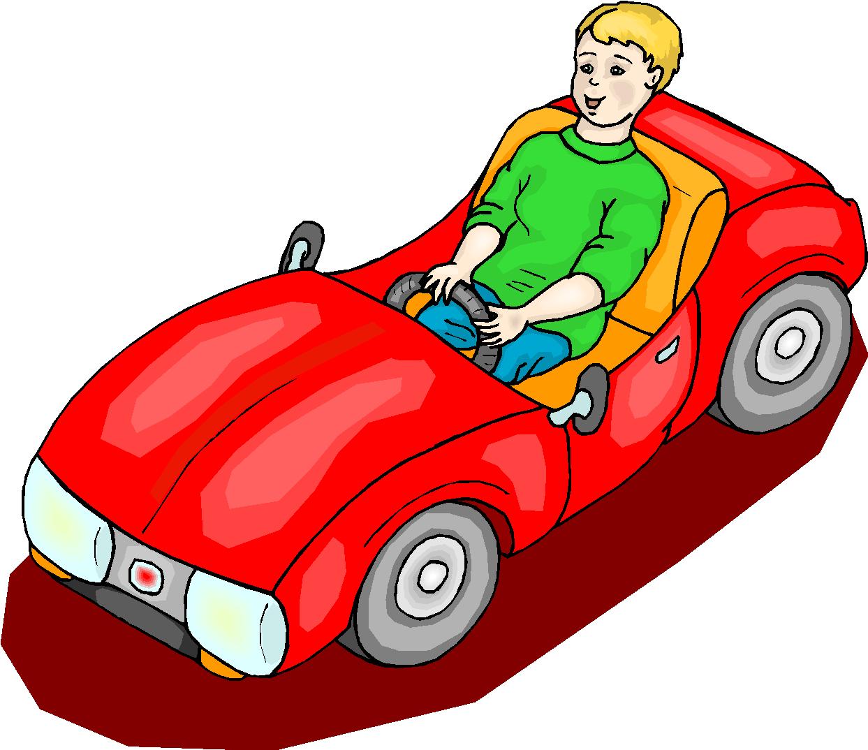Boy Ride Mini Car Free Clipart