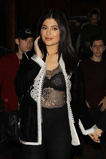 Kylie Jenner at Roku Restaurant in West Hollywood