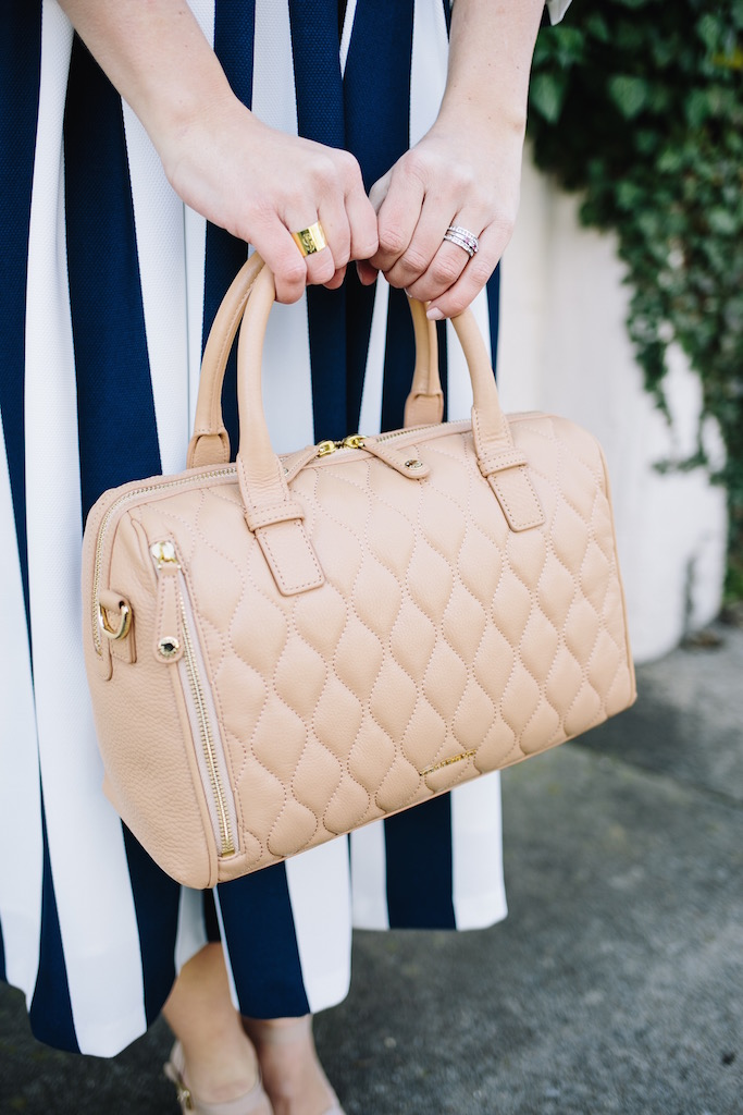 KBStyled: monogrammed ring nude bag monogrammed jewelry
