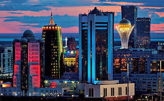 Cazaquistão moderno noite
