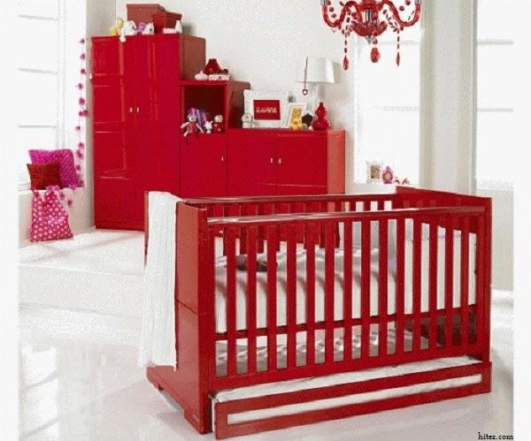 Chambre bébé rouge pour fille et garçon