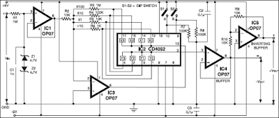 Precision Amplifier With Digital Control Circuit Diagram