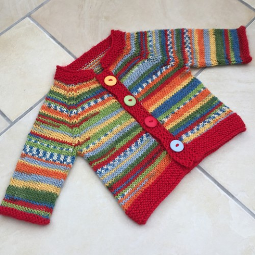 Fuss Free Baby Cardigan - Free Pattern