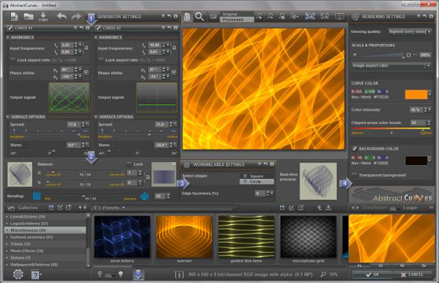 تحميل برنامج Abstract Curves لتغير خلفيات الصور وأضافة التأثيرات عليها برابط مباشر