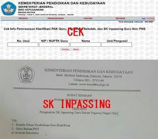 Cara Cek Proses SK Inpassing Bagi Guru Non PNS Via Online Terbaru