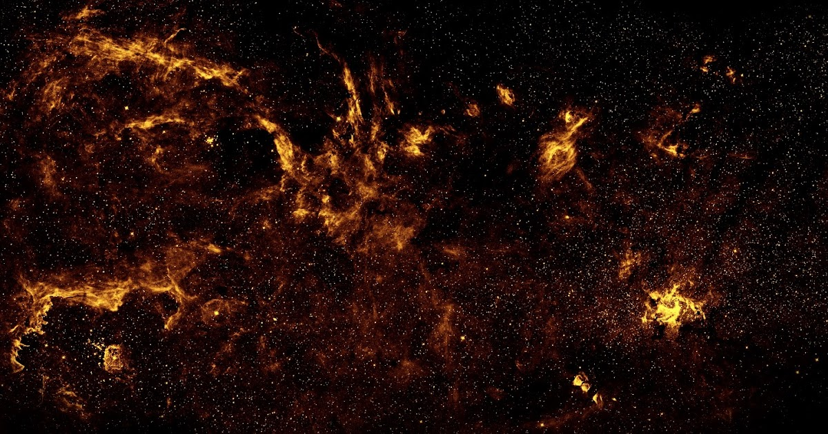 Center of the Milky Way Galaxy in Near-Infrared | Earth Blog