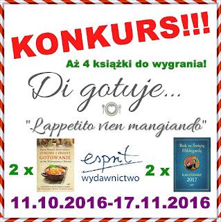 KONKURS - Di gotuje & Wydawnictwo Espirt - 4 nagrody!