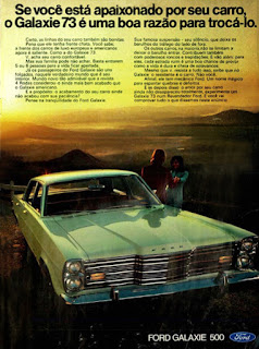 propaganda 1972 do Ford Galaxie 500 ano 73, Ford Willys anos 70, carro antigo Ford, década de 70, anos 70, Oswaldo Hernandez,