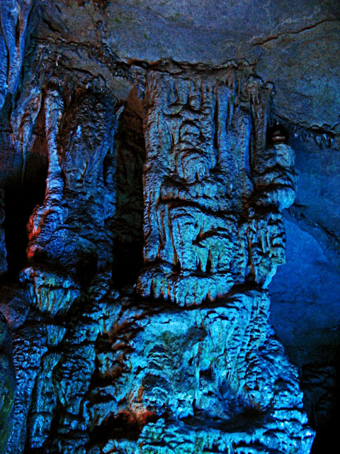 carved stalagmites and stalactites