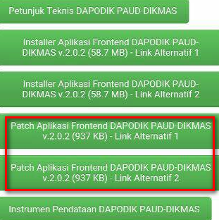 Patch Dapodik PAUD 2.02 Resmi Telah Dirilis